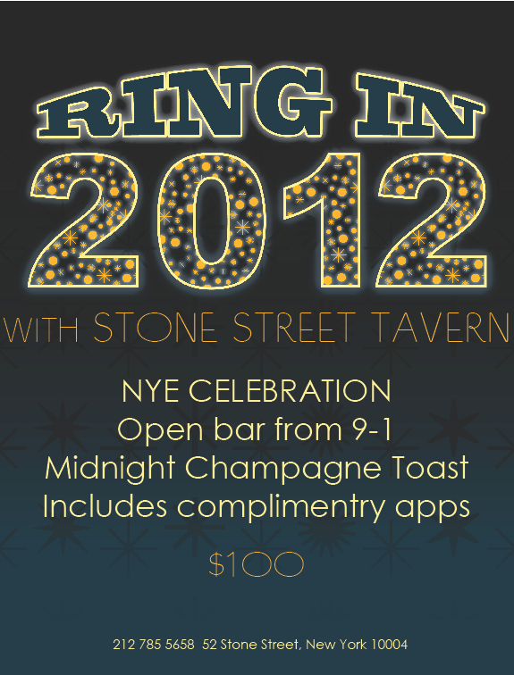 New Year's Eve at Stone Street Tavern