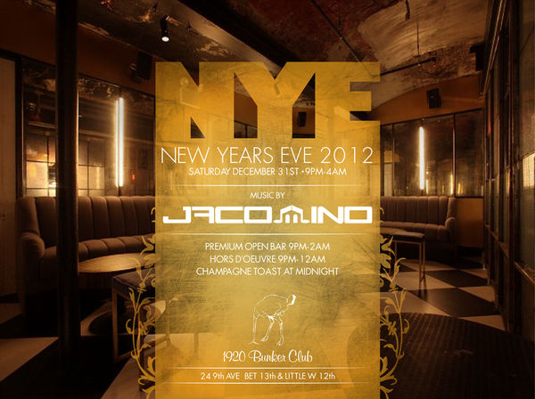 New Year's Eve at The Bunker NYC