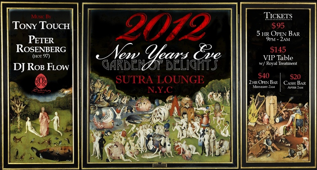 New Year's Eve at Sutra NYC