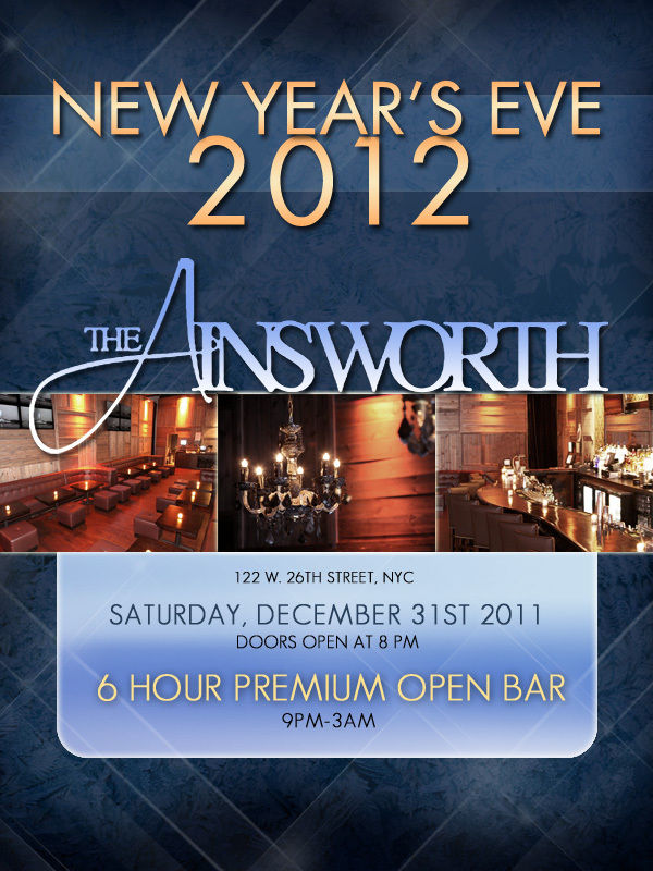 New Year's Eve at The Ainsworth