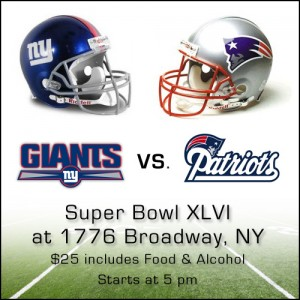 Super Bowl XLVI Party at 1776 Broadway