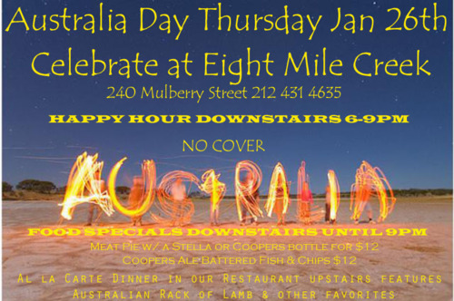 Australia Day at 8 Mile Creek