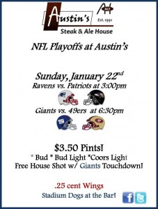 Football playoffs at Austin's