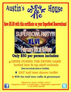 Super Bowl Sunday at Austin's