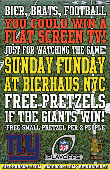 Giants game watch party at Bierhaus