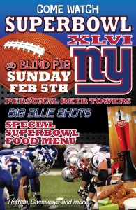 Super Bowl at Blind Pig
