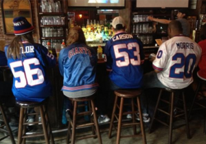 Giants fans at The Gin Mill NYC