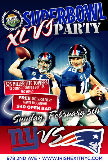 Super Bowl Sunday at The Irish Exit NYC