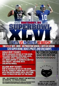 Super Bowl Party at Katwalk