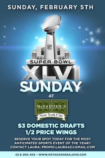 Super Bowl party at McFadden's