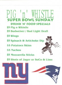 Super Bowl Sunday at Pig n Whistle NYC
