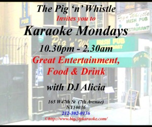 Karaoke at Pig n Whistle - Times Square NY