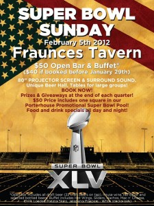 Super Bowl Party at The Porterhouse at Fraunces Tavern
