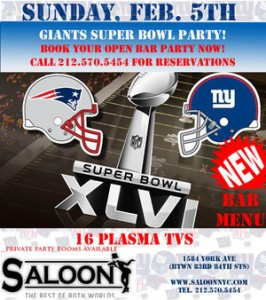 Super Bowl at Saloon NYC