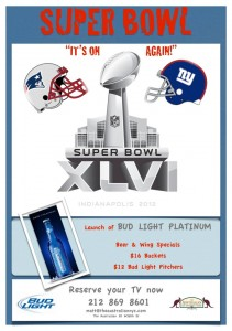 Super Bowl XLVI at The Australian