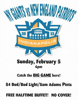Super Bowl XLVI at Third and Long NYC