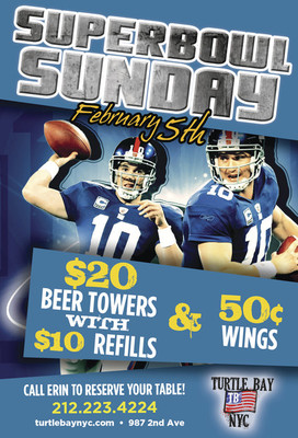 Super Bowl XLVI at Turtle Bay NYC