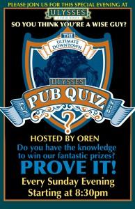 Pub Quiz at Ulysses' NYC