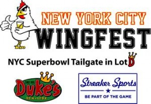 Wingfest Super Bowl tailgate at Duke's NYC
