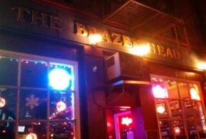 The Brazen Head at night