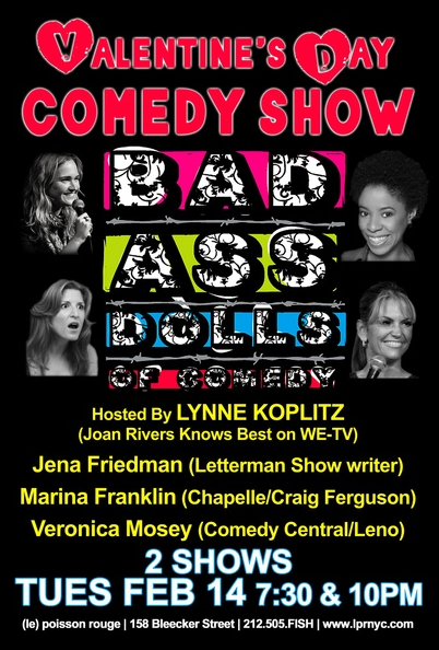 Bad Ass Dolls Of Comedy - Valentine's Day Show