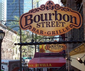 Bourbon Street on Restaurant Row