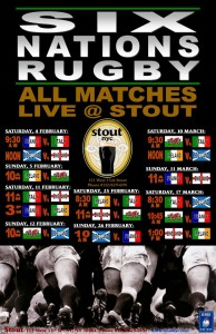 6 Nations Rugby at Stout