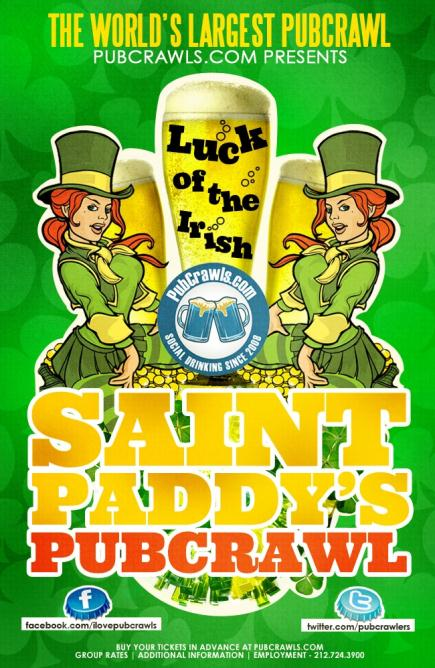 St. Patrick's Happy Hour Pub Crawl