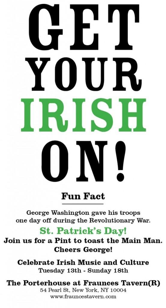 Get Your Irish On! at Fraunces Tavern NYC