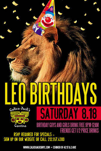 Leo Birthdays Party at Calico Jack's - MurphGuide: NYC Bar Guide