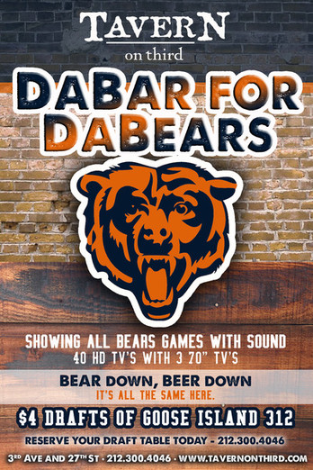 Tavern on Third Bears fans