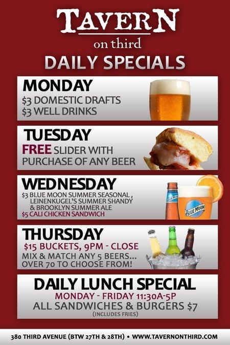 Monday restaurant deals nyc