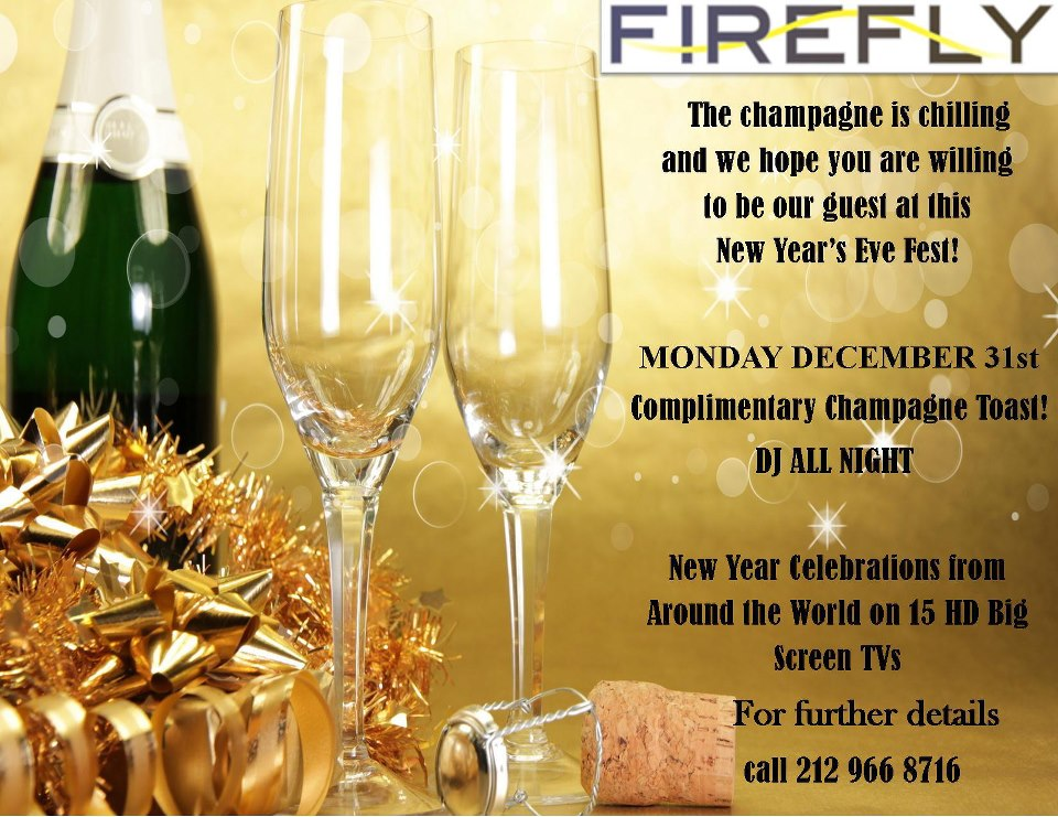 New Year's Eve 2013 at Firefly | MurphGuide Entertainment