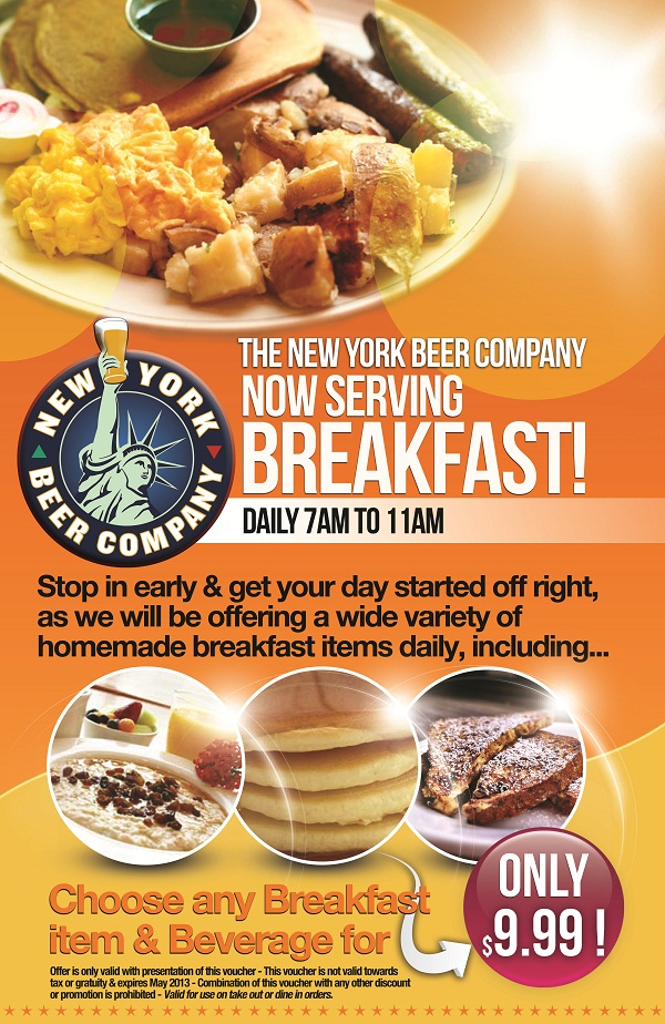 The New York Beer Company Now Serving Breakfast