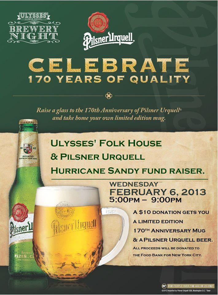 Pilsner Urquell 170th Anniversary Celebration at Ulysses