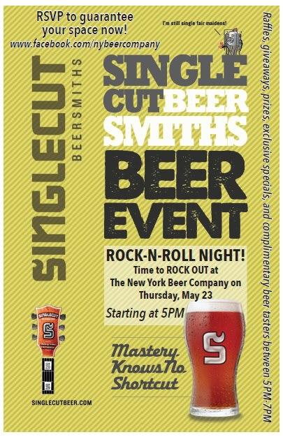 Singlecut Beersmiths Night - Rock & Roll Party at NY Beer Co