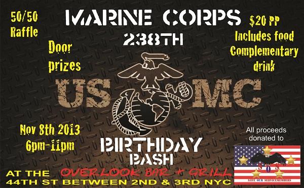 Marine Corps Birthday Bash At Overlook Murphguide Nyc