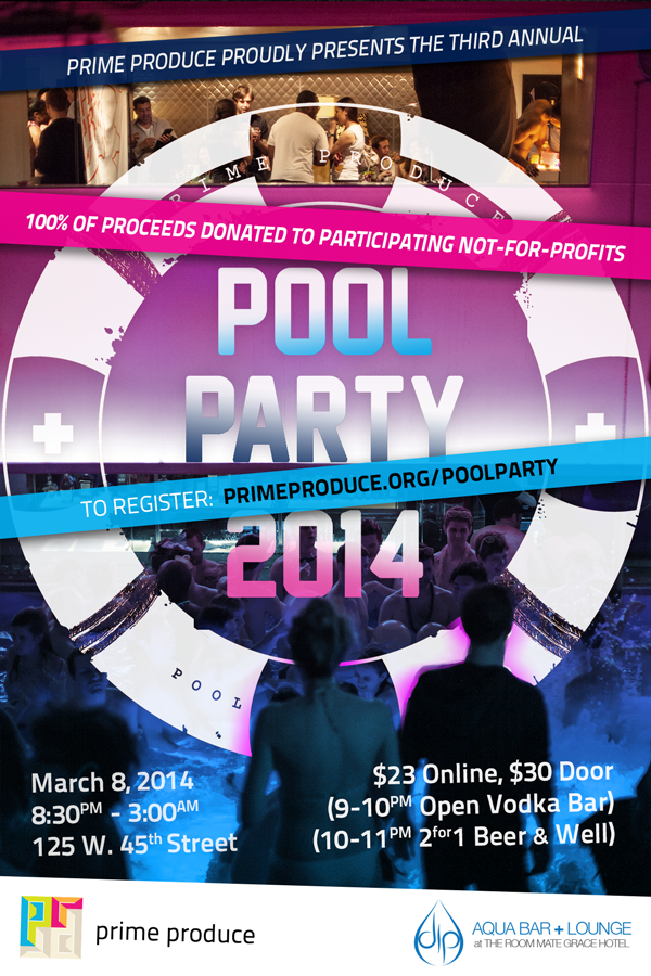 Pool party at grace room mate hotel murphguide nyc bar for Pool party daily show