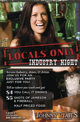 johnnyutahs-monday-industry-night