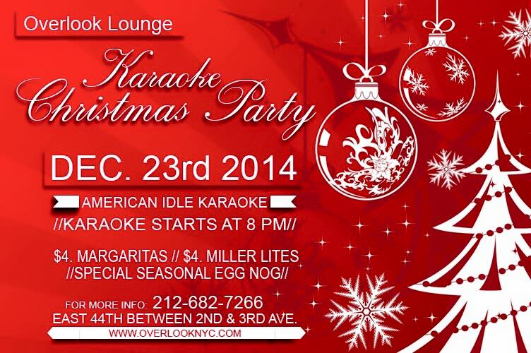 Karaoke Christmas Party.Karaoke Christmas Party At Overlook Murphguide Nyc Bar Guide