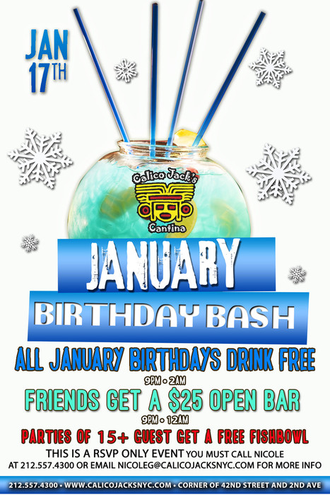 January Birthdays Party At Calico Jack S Murphguide Nyc