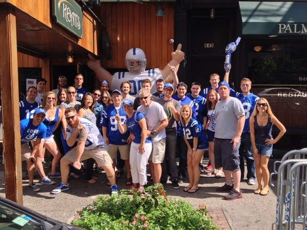 Indianapolis Colts Fans in NYC