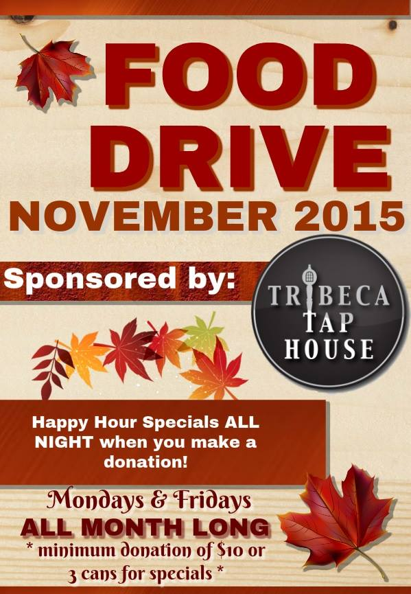 Food Drive At Tribeca Tap House Murphguide Nyc Bar Guide