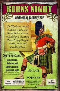 Burns Night at The Rookery