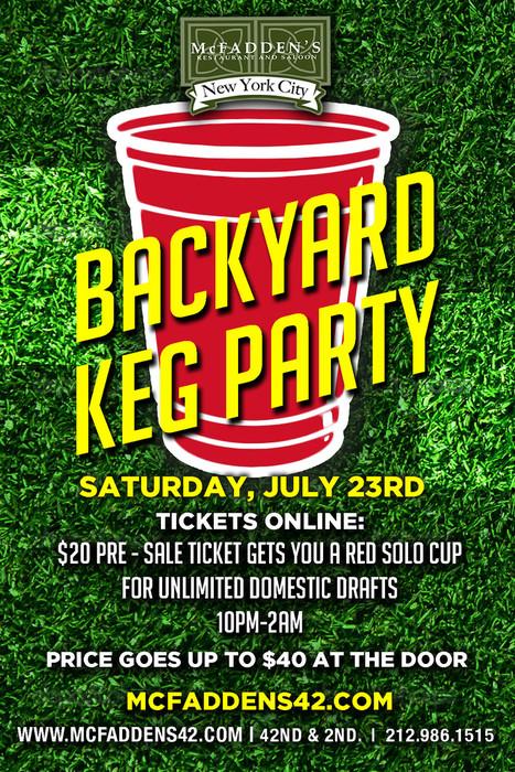 Backyard Keg Party At McFaddens