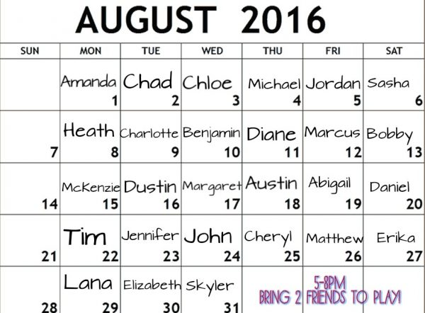 The Name Game at Overlook: August 2016 - MurphGuide: NYC Bar Guide