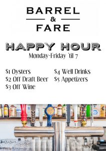 Barrel & Fare Happy Hour