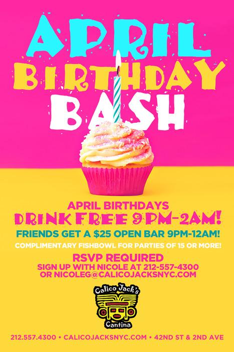 April Birthday Bash At Calico Jacks