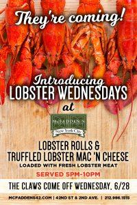 Lobster Wednesdays at McFadden's - MurphGuide: NYC Bar Guide