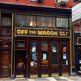 off the wagon exterior17 - 150+ Open BARS In Greenwich Village